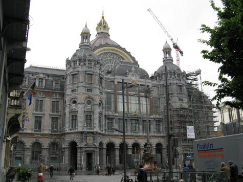 The central train station in Antwerp Belgium is called Antwerpen-Centraal.